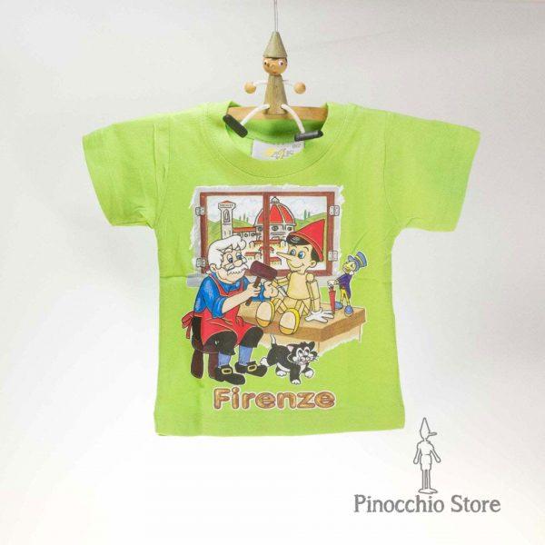 T-shirt con Pinocchio e Geppetto