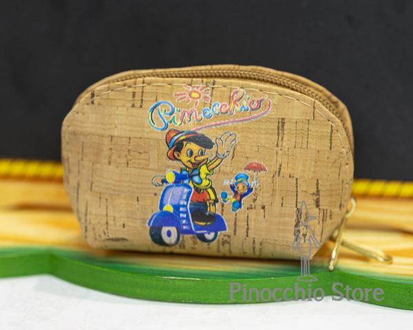 Portamonete in sughero di Pinocchio